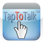Image of pointing finger touching the word tap.